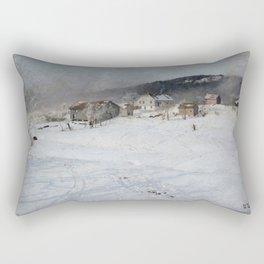 Frits Thaulow Winter Rectangular Pillow