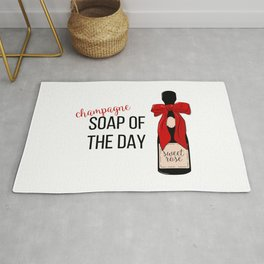 Champagne party print Rug