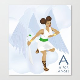 A is for Angel Canvas Print