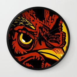Eye of the Rooster Wall Clock