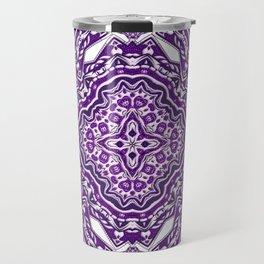 Purple Haze Violet Bohemian Pattern Art Design Travel Mug