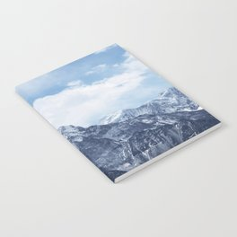 Snowy Mountain Peaks Notebook