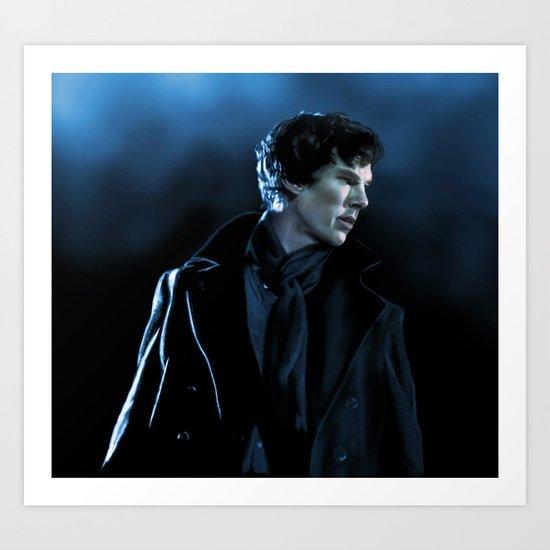 Sherlock in the unaired pilot Art Print
