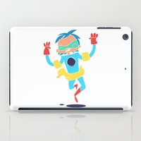 super hero iPad Cases featuring Super Hero 5 by La Lanterne