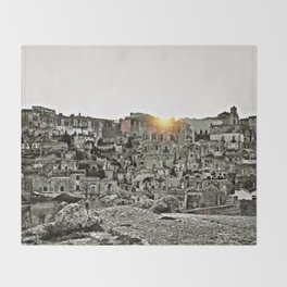Sassi di Matera: view Throw Blanket