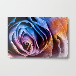 Abstract Acrylic Rose Metal Print