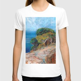 Sea View of Lacroma landscape coastline painting by Emilie Mediz-Pelikan T-shirt