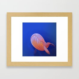 Contented Whale Framed Art Print