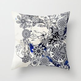 Moonlight Fountain Throw Pillow