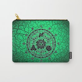 Green Circle Of Triangle Carry-All Pouch