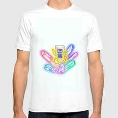 Party Crystals Mens Fitted Tee SMALL White