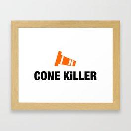 Cone Killer v4 HQvector Framed Art Print