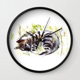 Totem striped hyena (Hyaena hyaena) Wall Clock