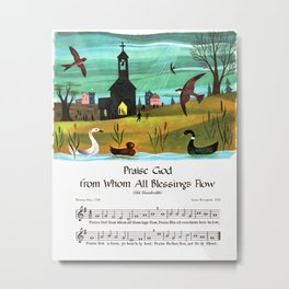 Praise God From Whom All Blessings Flow, Old Hundredth Metal Print