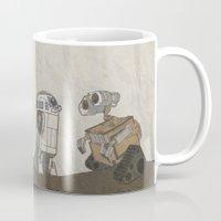 wall e Mugs featuring R2D2 and Wall E by Victoria Schiariti