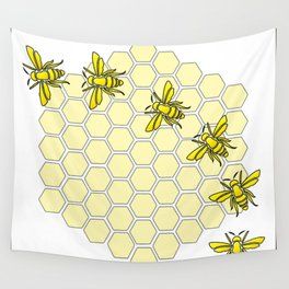 Save the Bees Design Two Wall Tapestry