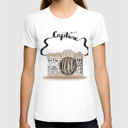 Cute Camera Typography T-shirt