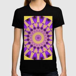 Bold Purple and Yellow Mandala T-shirt