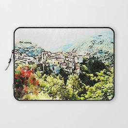 Tortora view with red flower Laptop Sleeve