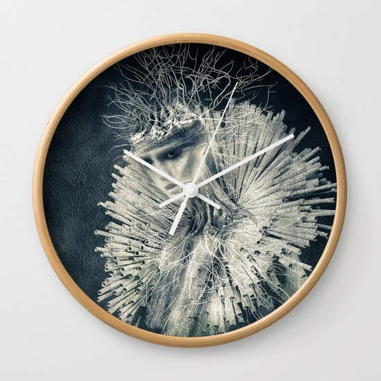 Dark Portrait III  (colour option) Wall Clock