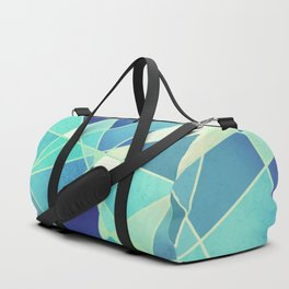 STAINED GLASS WINDOW BLUE Duffle Bag