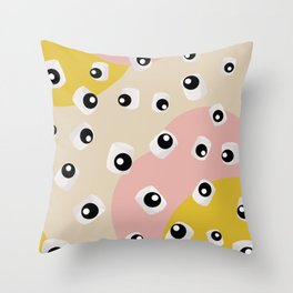 Marshmallow Eyeballs Throw Pillow