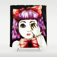 doll Shower Curtains featuring Doll by Kennedy Vacca