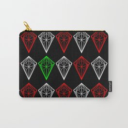 Diamonds Rubies and sapphire Carry-All Pouch