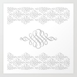 SCROLLY SCROLL DUVET Art Print
