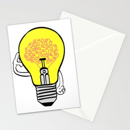 Smarty Tee For Smart Out There With Illustration Of A Bulb Thinking T-shirt Design Genius Ideas Stationery Cards
