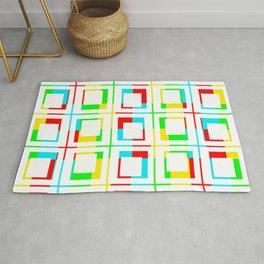 Color Bars/Window - White Rug
