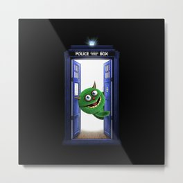 Welcome My Tardis Metal Print