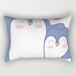 Cute Penguin Love Rectangular Pillow