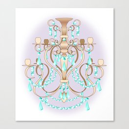 Chandelier - Colorful Canvas Print