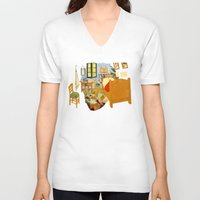 van gogh V-neck T-shirts featuring van gogh by gazonula