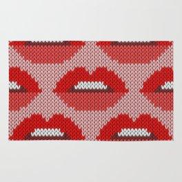 Lips pattern - pink Rug