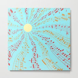 Music Brightens the World Metal Print
