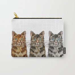 Triple Tabbies Carry-All Pouch