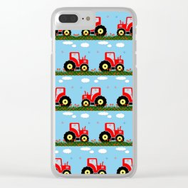 Toy tractor pattern Clear iPhone Case