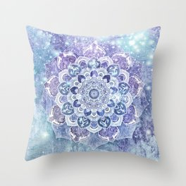 FREE YOUR MIND in Blue Throw Pillow