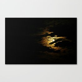 Clouded Moon Canvas Print