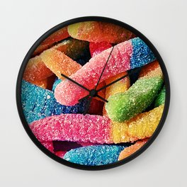 Gummy Worms Wall Clock