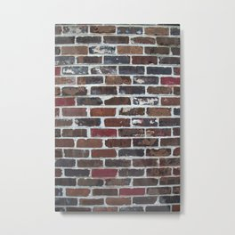 Brick Wall Vertical Metal Print