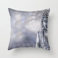 buddha Throw Pillows featuring Buddha by LebensART Photography
