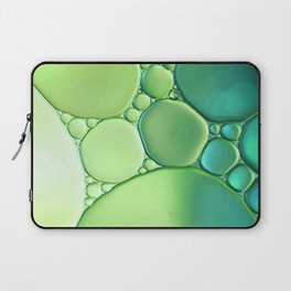 Jade Ombre Bubbles Laptop Sleeve