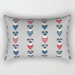 Schnauzer summer sunglasses bandana pure breed dog gifts Rectangular Pillow