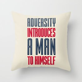 Lab No. 4 Adversity introduces a man to himself albert einstein motivational quote poster Throw Pillow