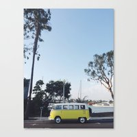 vw bus Canvas Prints featuring VW Bus by Meghan