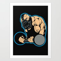 bane Art Prints featuring B gym 2 by Buby87