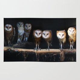 Owls the family Rug